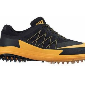 Nike Mens Black Orange Golf Shoes Size 10.5